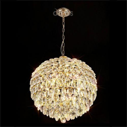 Diyas Coniston IL32805 Crystal 9 Light Large Pendant Gold Frame