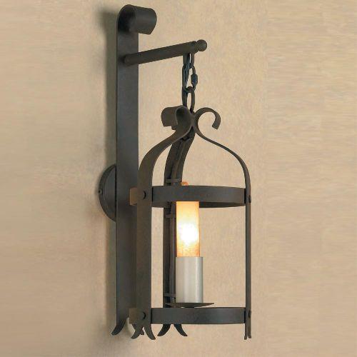 Impex SMRRV00006/A Villa 1Lt Aged Iron Wall Lantern