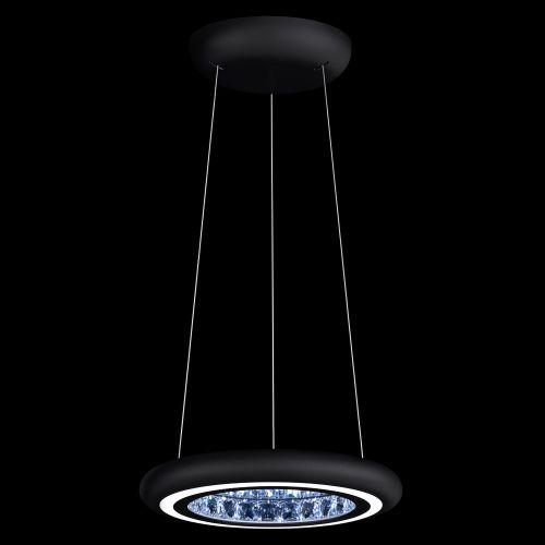 Schonbek Infinite Aura LED Swarovski Crystal Pendant Black Frame MFC101E-BK1S