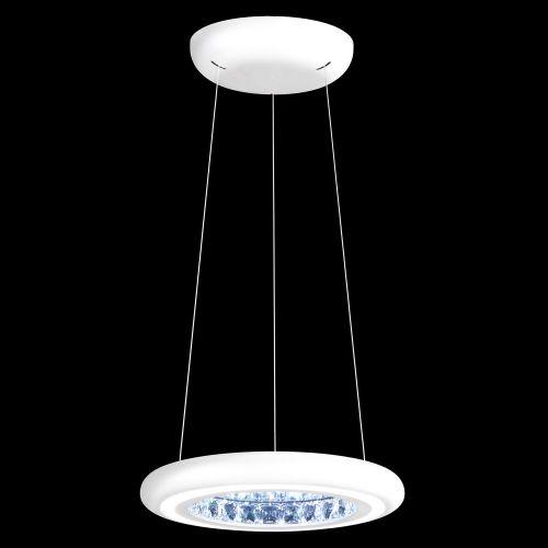 Schonbek Infinite Aura LED Swarovski Crystal Pendant White Frame MFC101E-WH1S
