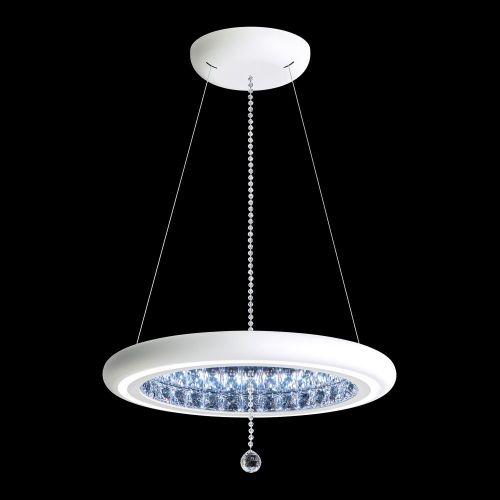 Schonbek Infinite Aura LED Swarovski Crystal Pendant White Frame MFC200E-WH1S