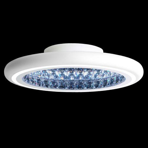 Schonbek Infinite Aura LED Swarovski Crystal Flush Wall Light White Frame MFC221E-WH1S