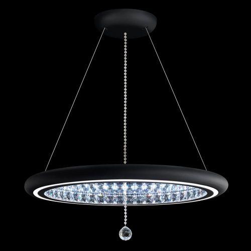 Schonbek Infinite Aura LED Swarovski Crystal Pendant Black Frame MFC300E-BK1S