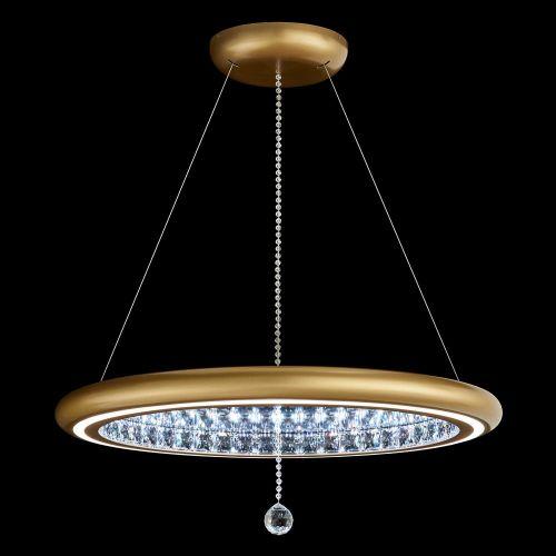 Schonbek Infinite Aura LED Swarovski Crystal Pendant Glimmer Gold Frame MFC300E-GD1S