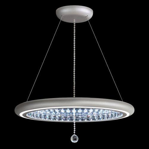 Schonbek Infinite Aura LED Swarovski Crystal Pendant Glimmer Silver Frame MFC300E-SI1S