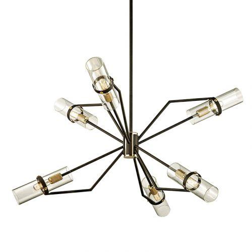 Ceiling Pendant Chandelier 6 Light Bronze Brass Troy Raef F6316-CE