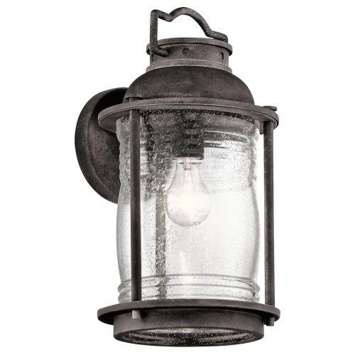 Kichler Ashlandbay Large Outdoor Wall Lantern Weathered Zinc ELS/KL/ASHLANDBAY2/L