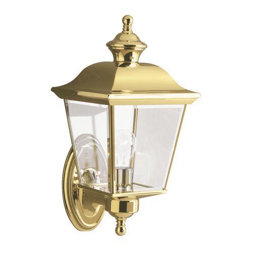 Kichler KL/BAY SHORE1/M Bay Shore 1Lt Polished Brass Medium Outdoor Wall Light