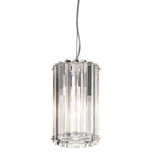 Kichler Crystal Skye Ceiling Fitting 1 Light LED Chrome Mini Pendant IP44 KL/CRSTSKYE/MP