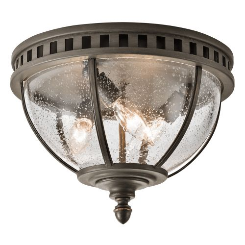 Kichler KL/HALLERON/F Halleron 3Lt Londonderry Outdoor Flush Ceiling Light