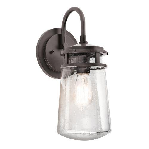 Kichler KL/LYNDON2/M Lyndon 1Lt Architectural Bronze Medium Indoor/Outdoor Wall Lantern