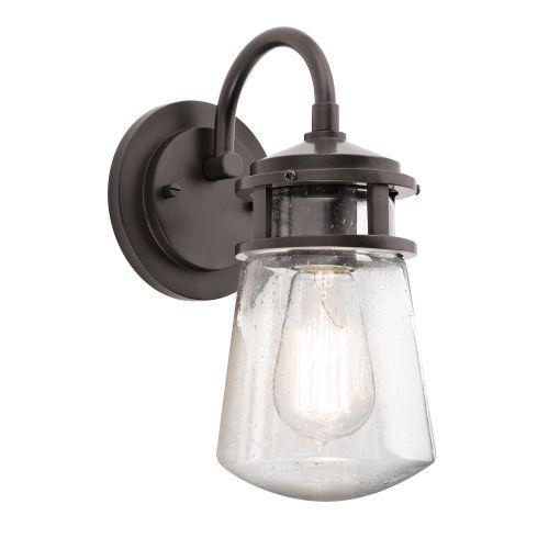 Kichler KL/LYNDON2/S Lyndon 1Lt Architectural Bronze Small Indoor/Outdoor Wall Lantern
