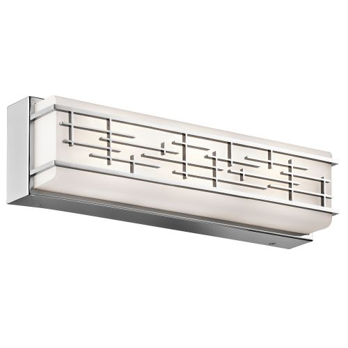 Kichler Zolon Medium Linear Bathroom Wall Light Chrome ELS/KL/ZOLON/M BATH