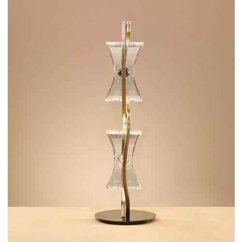 Mantra M0896AB Kromo Table Lamp 2 Light G9 Looped Frame Antique Brass