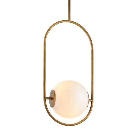 Corbett 1 Light Pendant Vintage Brass Large Everley 273-43-CE