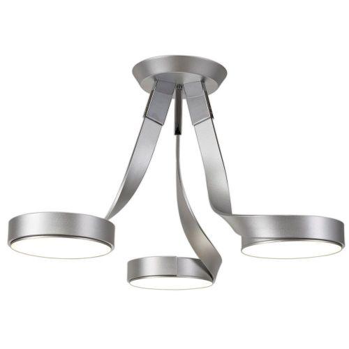 Semi-Flush LED Ceiling Light Fitting Silver Chrome Lekki Chayton LEK3069