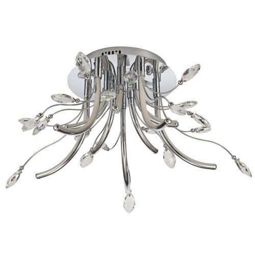 LED Ceiling Light Fitting Chrome Medium Lekki Chiara LEK3075