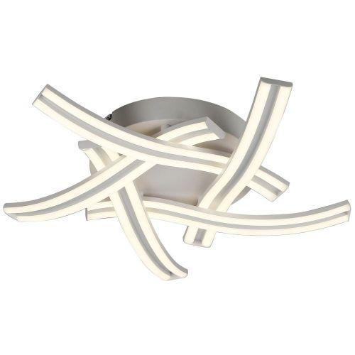 LED Flush Ceiling 5 Light Fitting White Lekki Debussy LEK3135