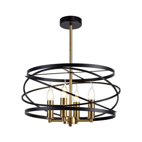 Ceiling Pendant Light Fitting  Black Satin Gold Lekki Luby LEK3155