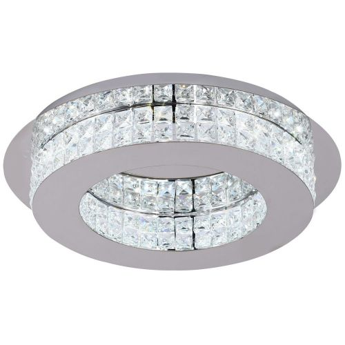 LED Crystal Ceiling Light Fitting Chrome Crystal Lekki Lusa LEK3156