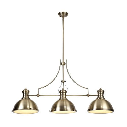 Bar Pendant Light Fitting Antique Brass Lekki Larson LEK3165