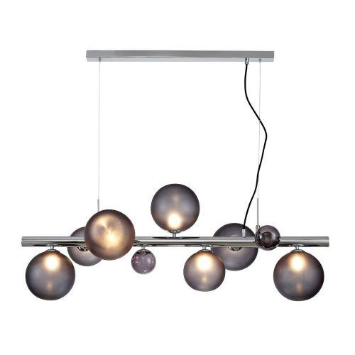 Bar Ceiling Pendant Light Fitting Chrome Smoked Glass Lekki Rocco LEK3250