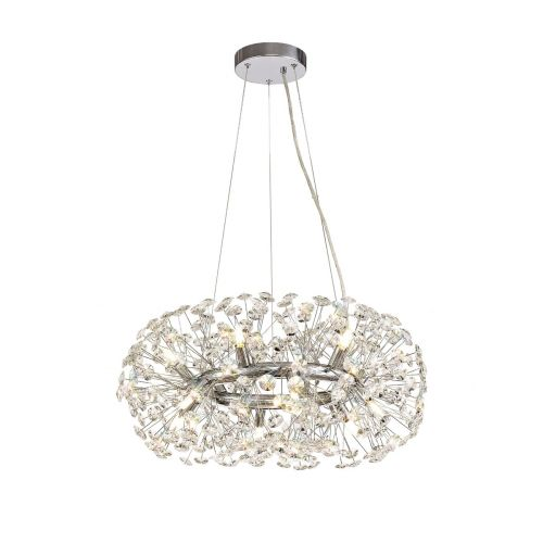 Ceiling Pendant 12 Light G9 Polished Chrome/Crystal Discord LEK3356