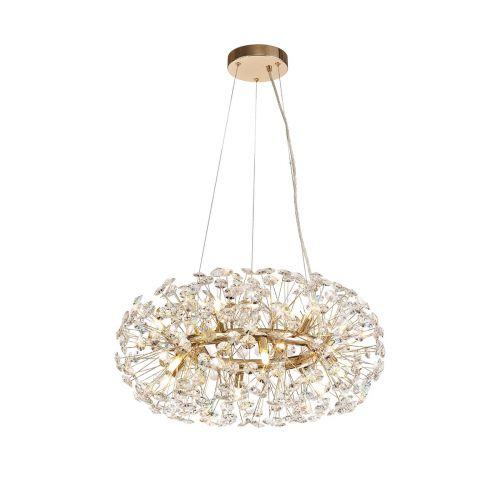 Ceiling Pendant 12 Light G9 French Gold/Crystal Leucas LEK3359