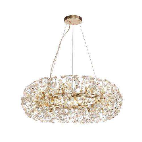 Ceiling Pendant 20 Light G9 French Gold/Crystal Leucas LEK3360