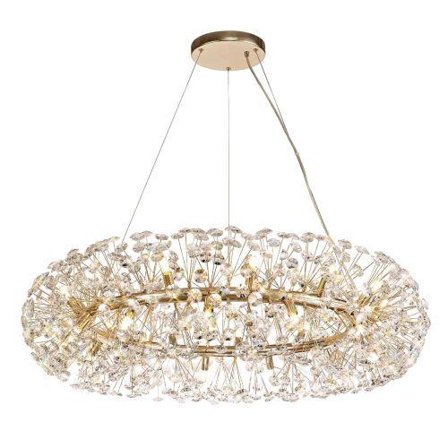 Ceiling Pendant 26 Light G9  French Gold/Crystal Leucas LEK3361