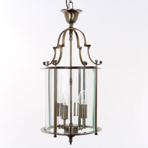 Impex LG07000/11/AB Colchester 4Lt Aged Brass Indoor Lantern