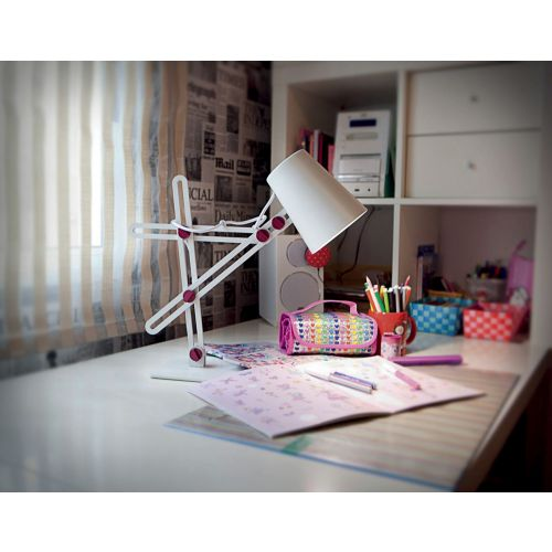 Mantra Looker 1 Light White And Purple Table Lamp M3613