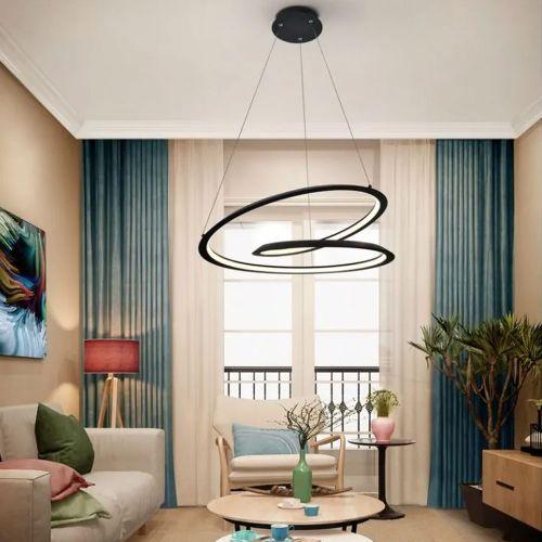 Schuller Looping 527583 LED Medium Ceiling Pendant Black