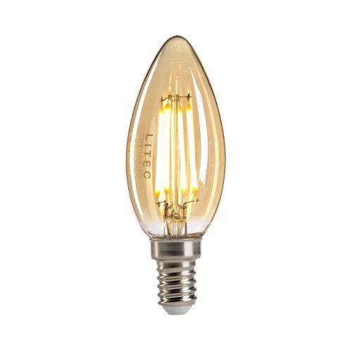 Candle Style Amber E14 Lamp Amber Glass Quintessentiale LP-LED4W-E14-C35
