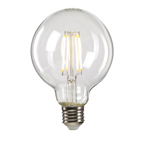 Clear Globe E27 Lamp Clear Glass GLOBE-E27-LED-8W-CLEAR-DIM
