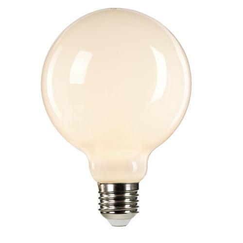 White Globe E27 Lamp White GLOBE-E27-LED-8W-W-DIM