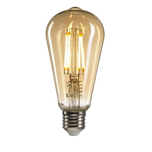 Edison Style E27 Lamp Amber Glass E27-LED-8W-WW-DIM