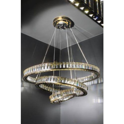 Avivo Bergamo Rings PD9900-920+620+320 3 Tier LED Light Pendant Brushed Bronze
