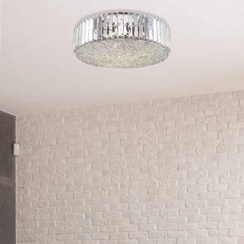 Decorative Pendant 5 Light Fitting Clear Lekki Bella LEK7086