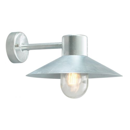 Norlys LUND GAL C Lund 1Lt Galvanised Outdoor Wall Light
