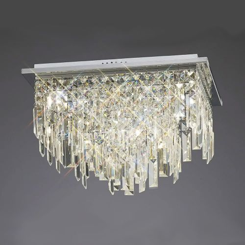 Diyas  Maddison 6 Light Ceiling Square Polished Chrome/Crystal IL30252