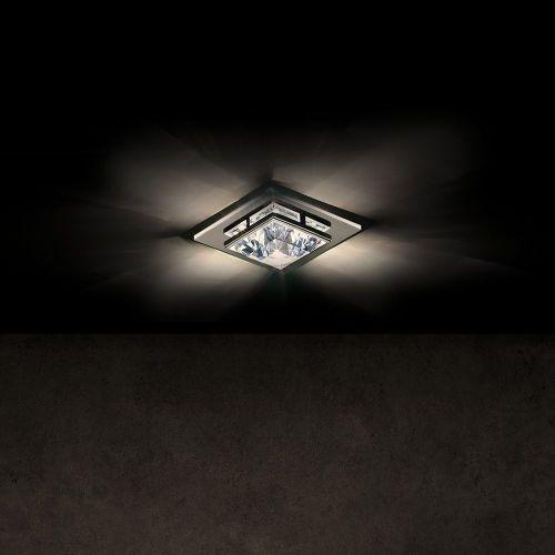 Schonbek Madison Swarovski Crystal Recessed Small Flush Ceiling Fitting Chrome A9950NR700169