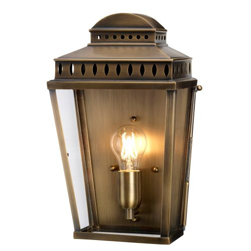 Elstead Mansion House Single Light Outdoor Wall Lantern Aged Brass ELS/MANSION-HOUSE-BR