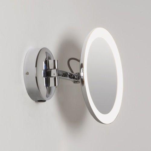 Astro Mascali Round LED Bathroom Magnifying Mirror in Polished Chrome 1373001