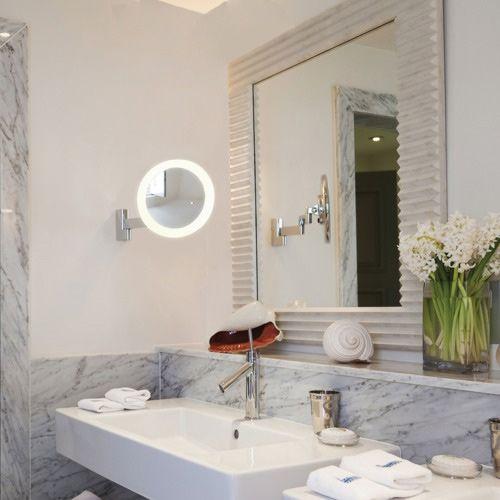 Astro Niimi Round LED Bathroom Magnifying Mirror in Polished Chrome 1163001