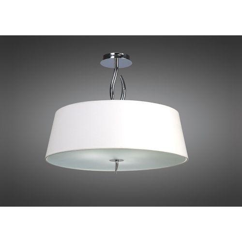 Mantra M1908 Ninette Semi-Flush Ceiling Fitting 4 Light Polished Chrome Ivory White Shade