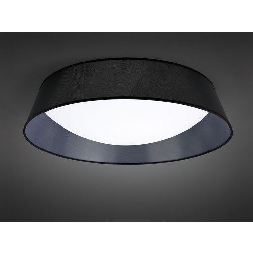 Mantra M4967 Nordica Flush Ceiling Fitting 60W LED 90cm White Acrylic Black Shade