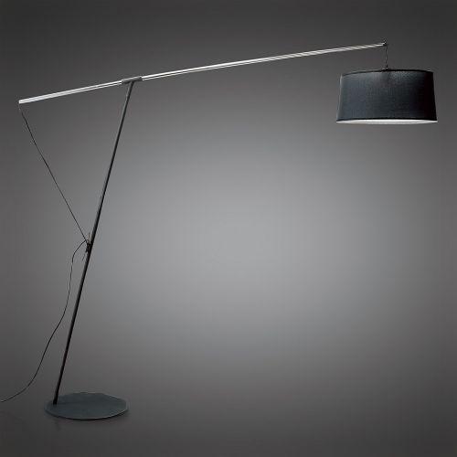 Mantra M4968 Nordica Floor Lamp E27 Black Shade Black Polished Chrome