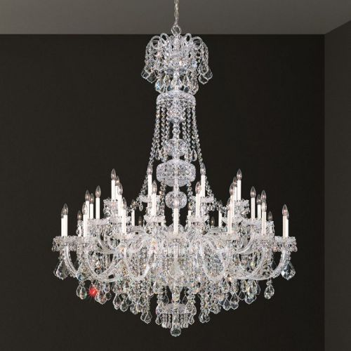 Schonbek 6861E-40S Olde World 45Lt Swarovski Crystal Ceiling Chandelier Silver