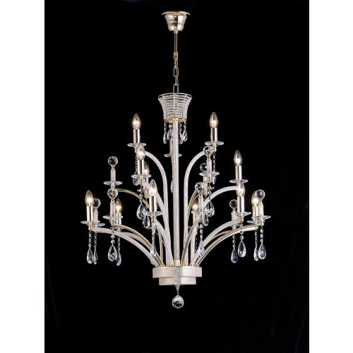 Diyas  Orlando 12 Light Large Pendant Gold Plated IL30381 (ITEM REQUIRES ASSEMBLY)